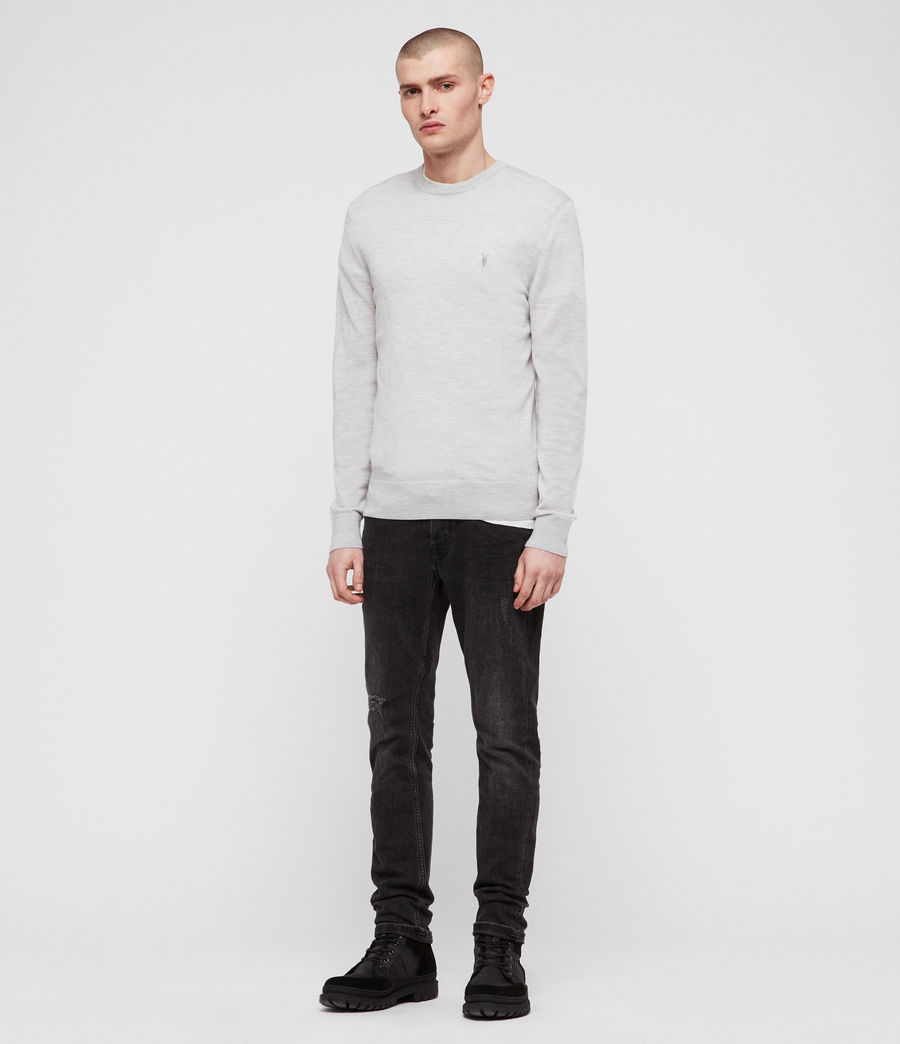Herren Mode Merino Pullover (light_grey_marl) - Image 3