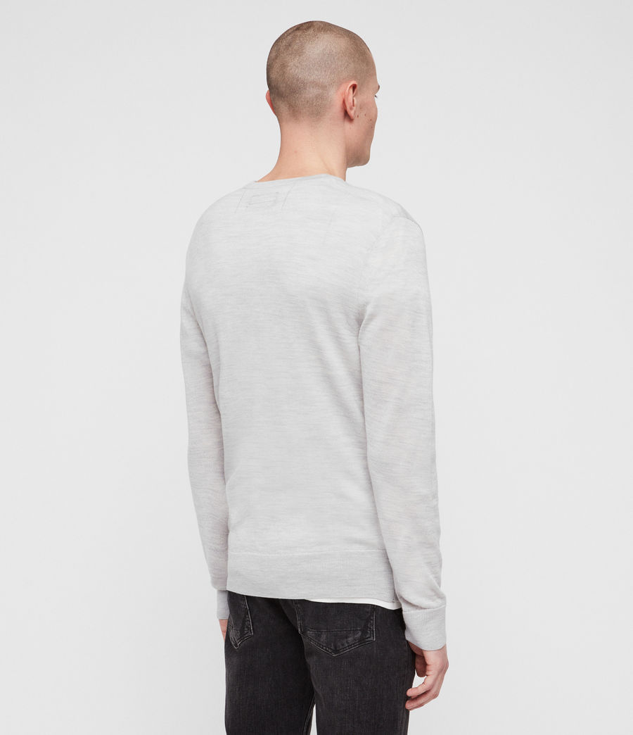 Herren Mode Merino Pullover (light_grey_marl) - Image 5