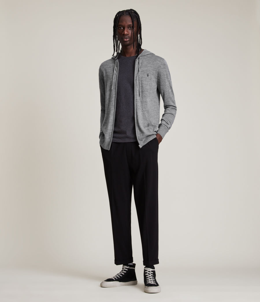 Mens Mode Merino Zip Hoodie (grey_marl) - Image 3