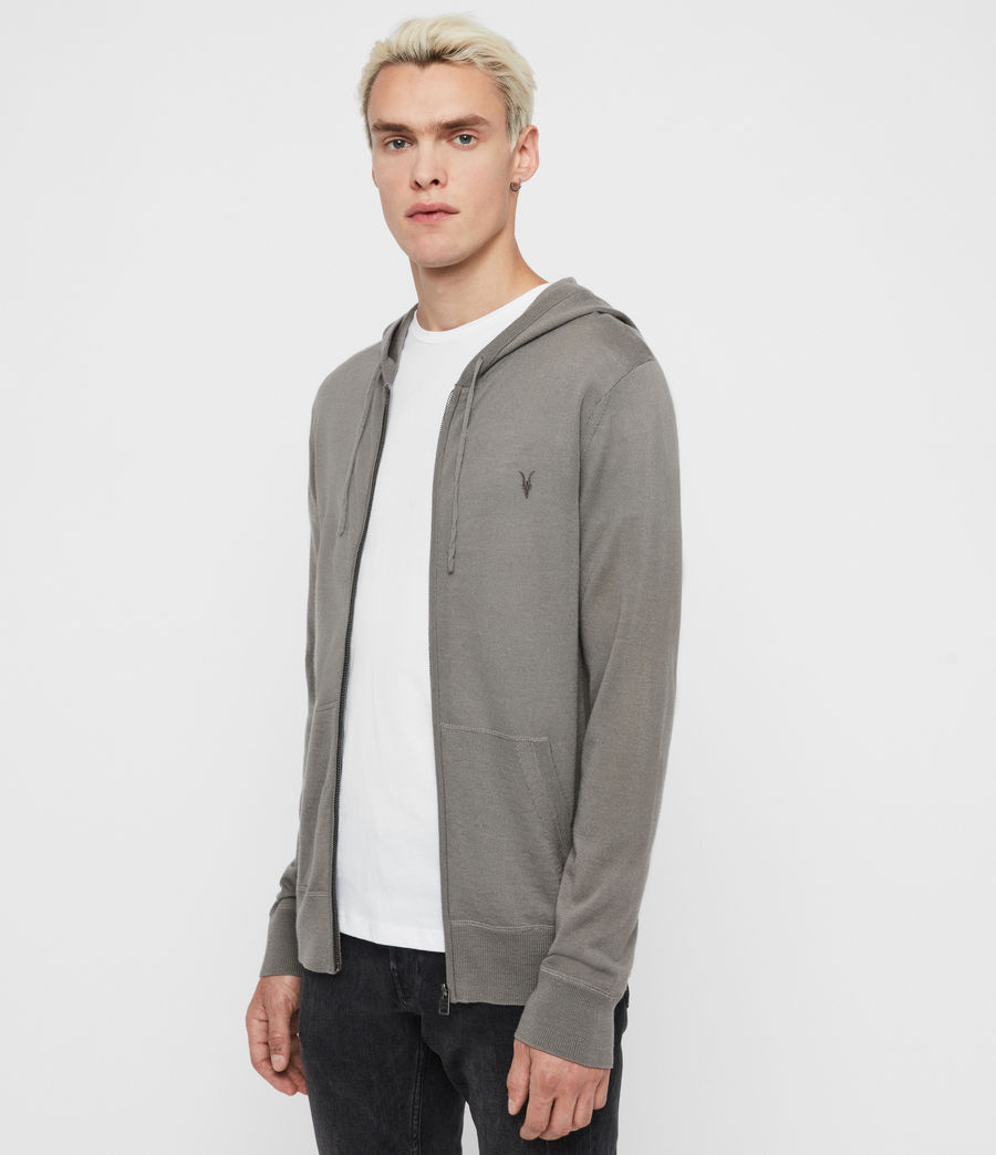 Mens Mode Merino Zip Hoodie (willow_green) - Image 3