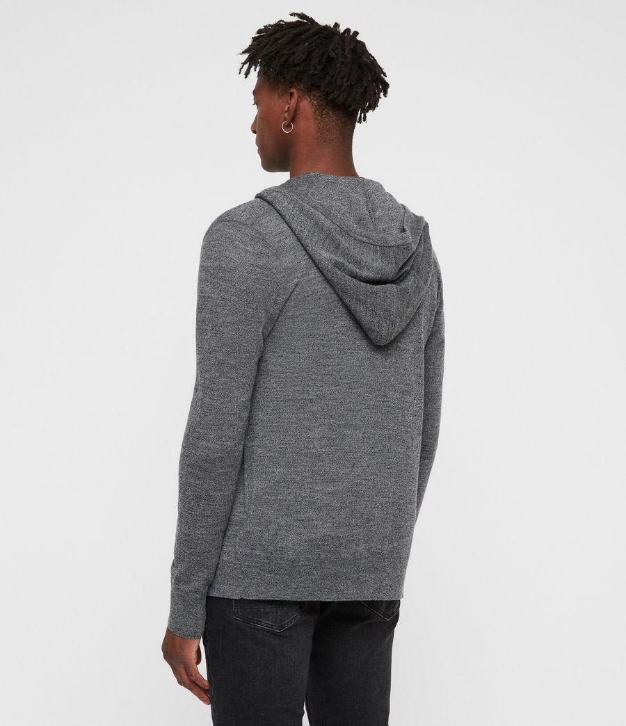 Men's Mode Merino Zip Hoodie (charcoal_mouline) - Image 4