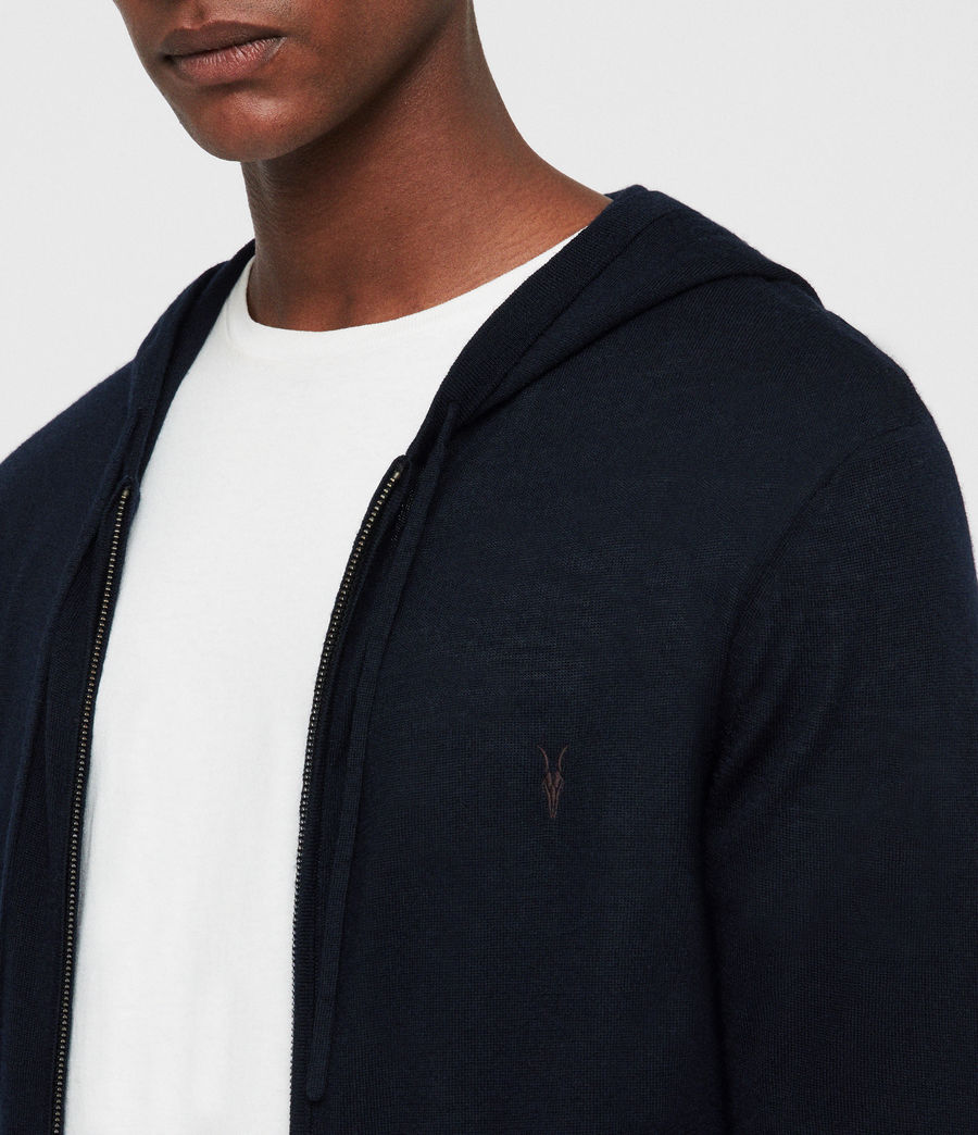 Mens Mode Merino Zip Hoodie (ink_navy) - Image 2