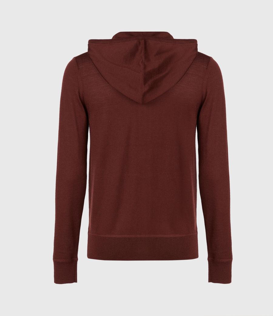 Mens Mode Merino Zip Hoodie (burgundy_red) - Image 3