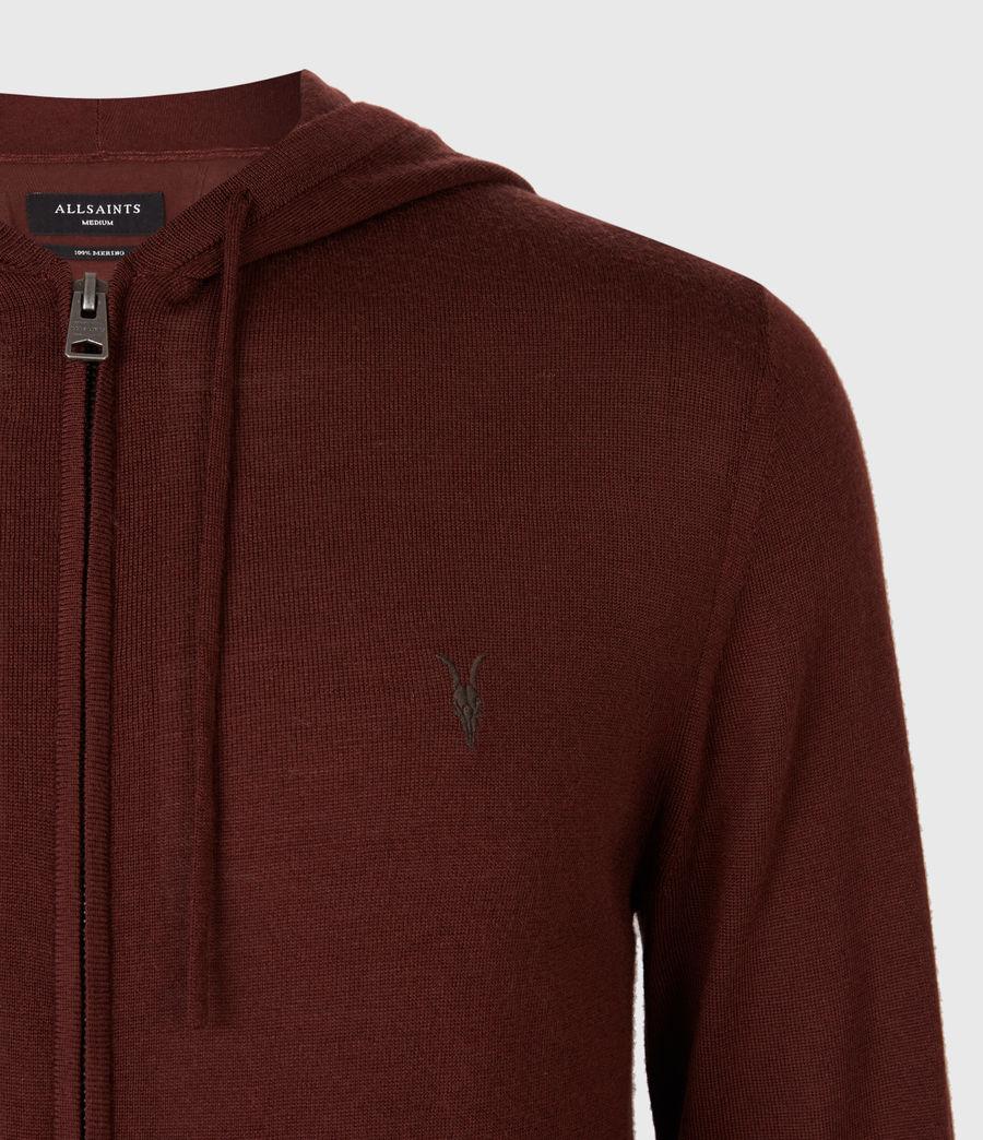 Mens Mode Merino Zip Hoodie (burgundy_red) - Image 4