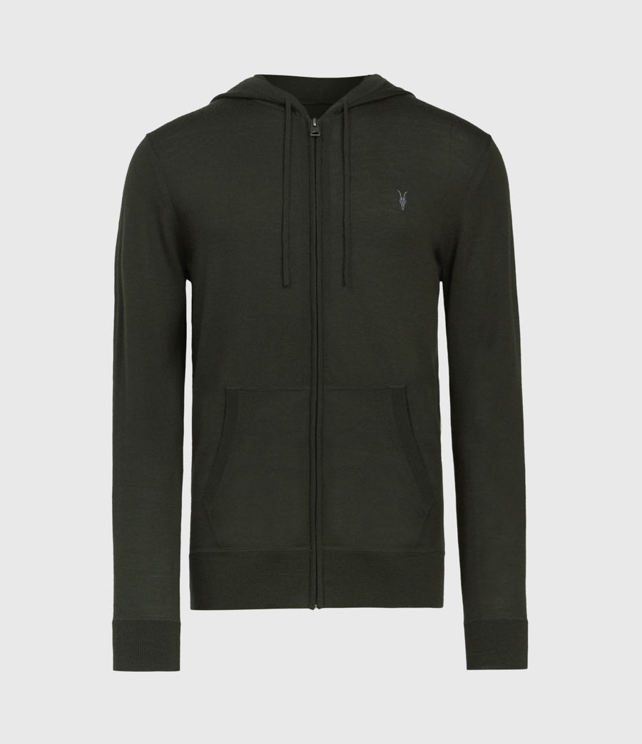 Mens Mode Merino Zip Hoodie (moss_green) - Image 2