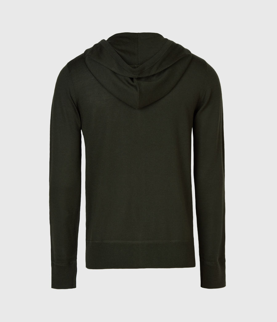 Mens Mode Merino Zip Hoodie (moss_green) - Image 3