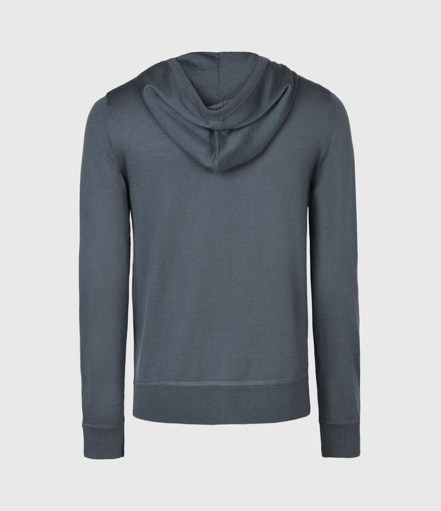 Mens Mode Merino Zip Hoodie (shadow_blue) - Image 3