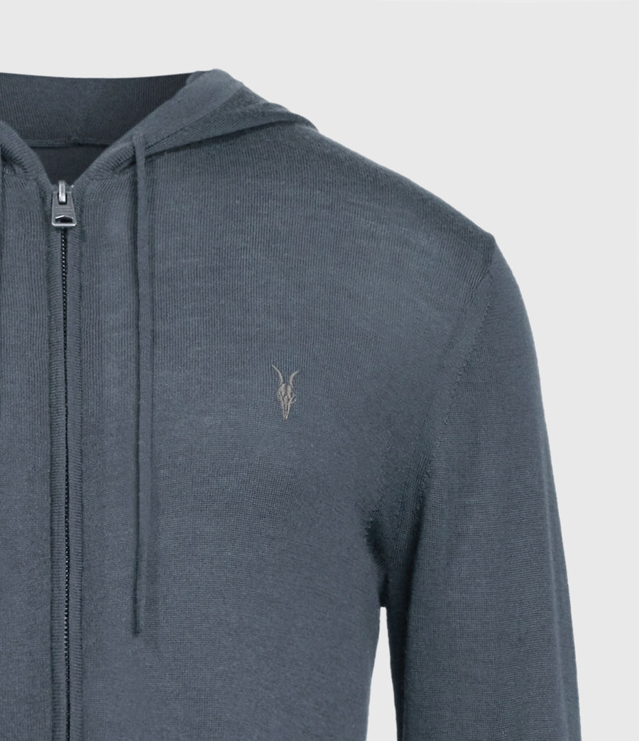 Mens Mode Merino Zip Hoodie (shadow_blue) - Image 4