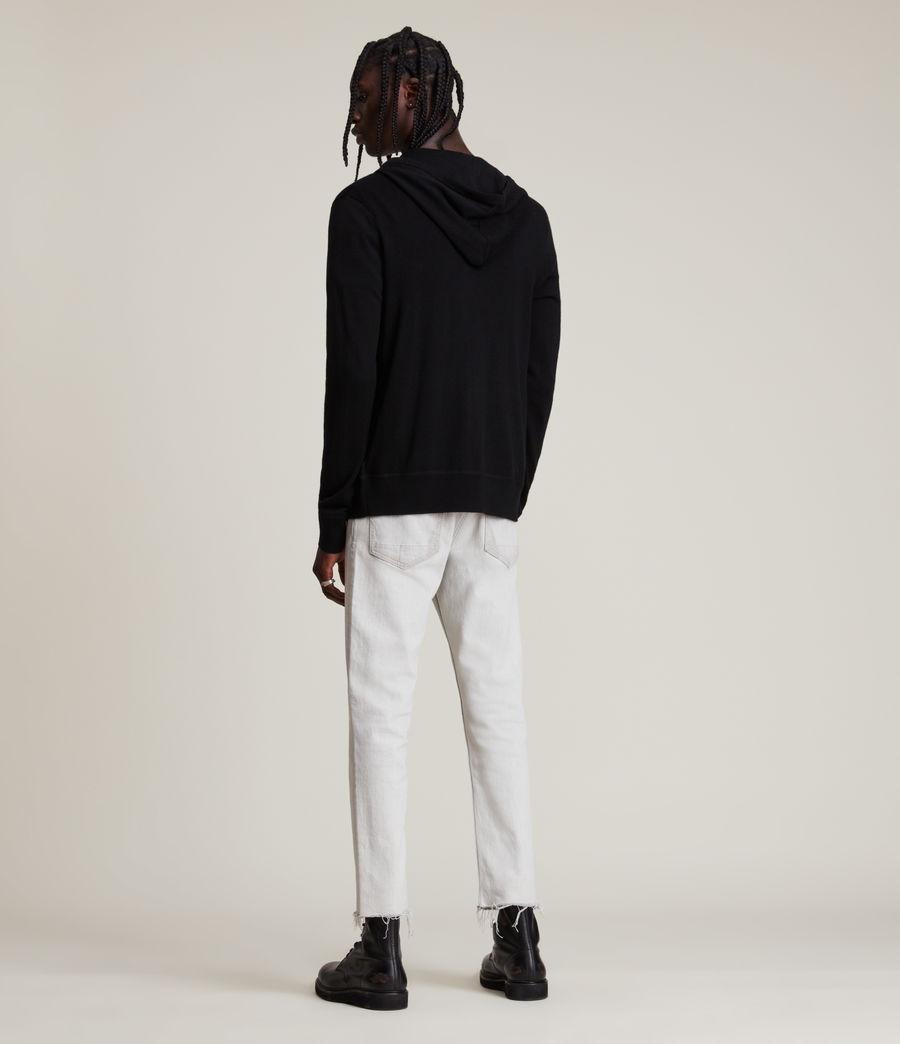 Mens Mode Merino Zip Hoodie (black) - Image 4