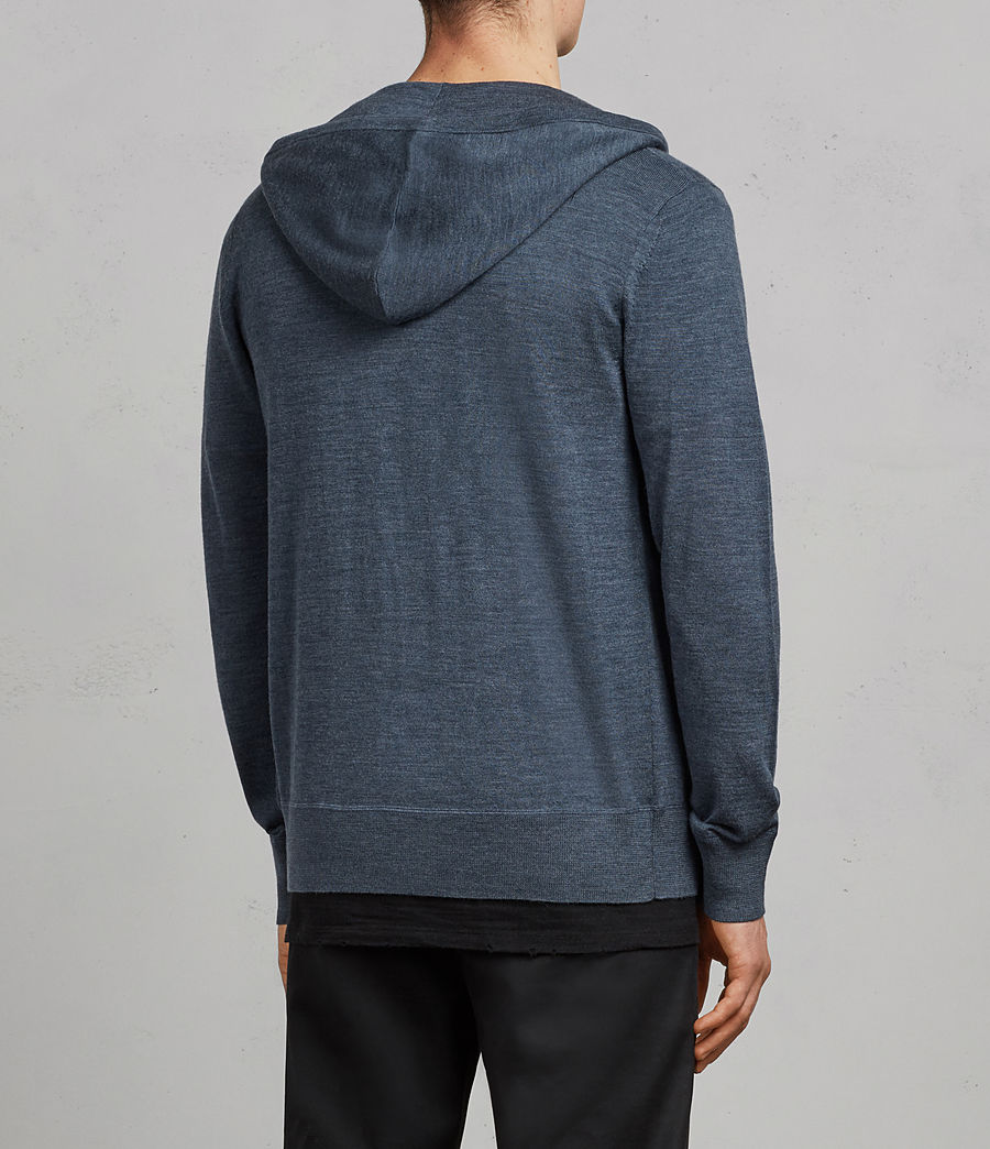 Mens Mode Merino Zip Hoodie (washed_navy_marl) - Image 4