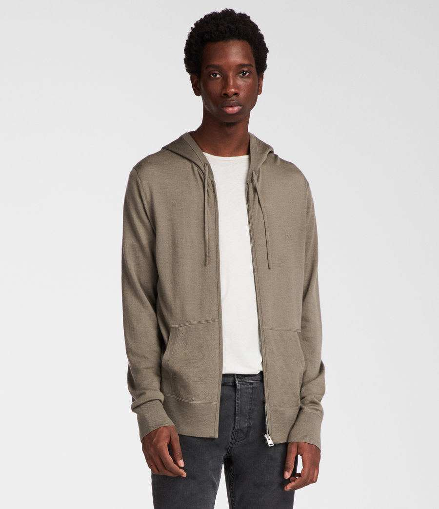 Men's Mode Merino Zip Hoodie (trench_khaki) - Image 1