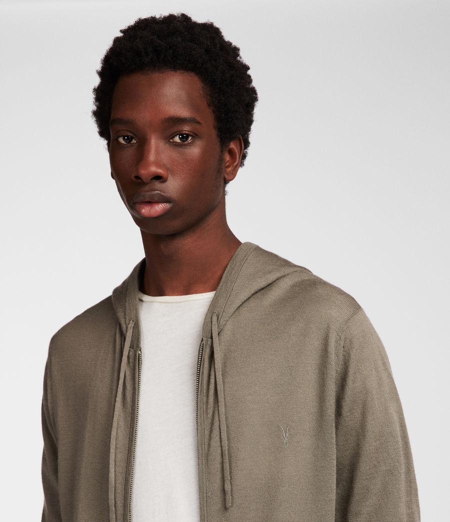 Men's Mode Merino Zip Hood (trench_khaki) - Image 2