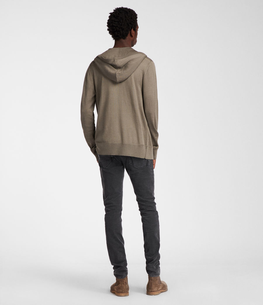 Men's Mode Merino Zip Hoodie (trench_khaki) - Image 5