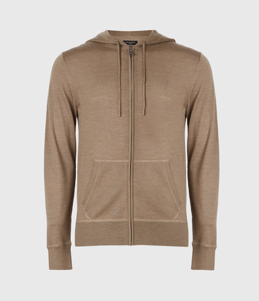 Mens Mode Merino Zip Hoodie (bay_green_marl) - Image 2