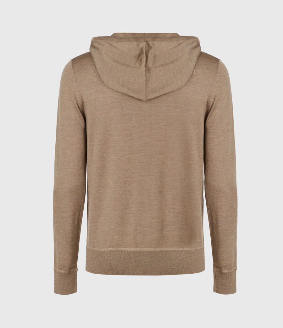 Mens Mode Merino Zip Hoodie (bay_green_marl) - Image 3