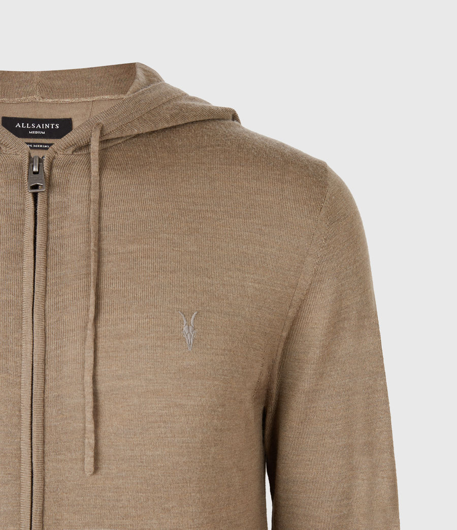 Mens Mode Merino Zip Hoodie (bay_green_marl) - Image 4