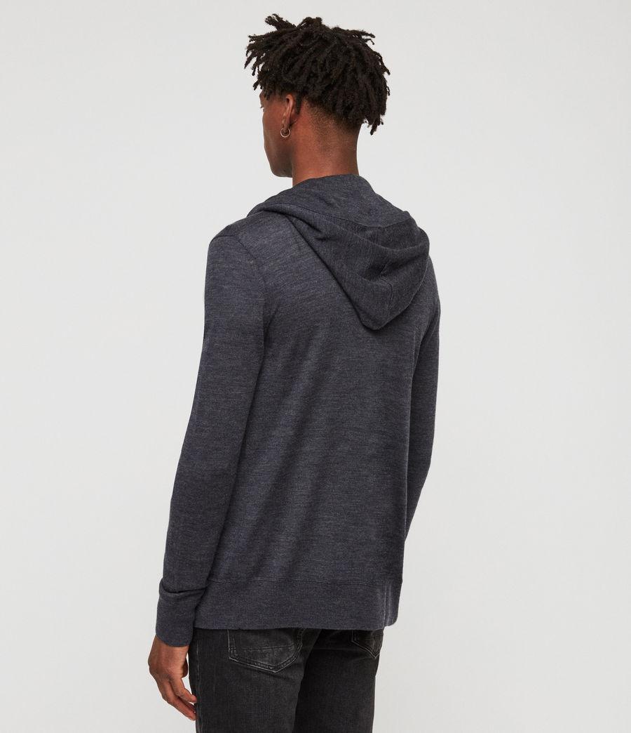 Mens Mode Merino Zip Hoodie (iron_blue_marl) - Image 4