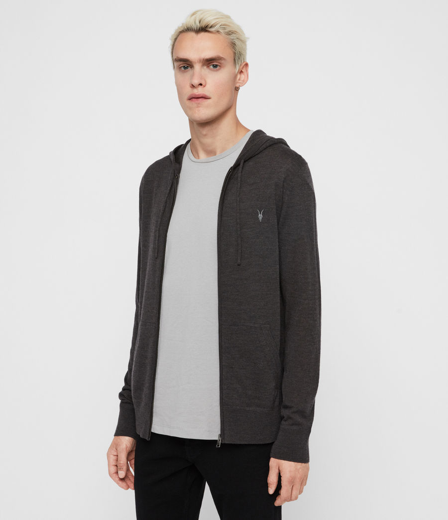 Mens Mode Merino Zip Hoodie (engine_grey_marl) - Image 4