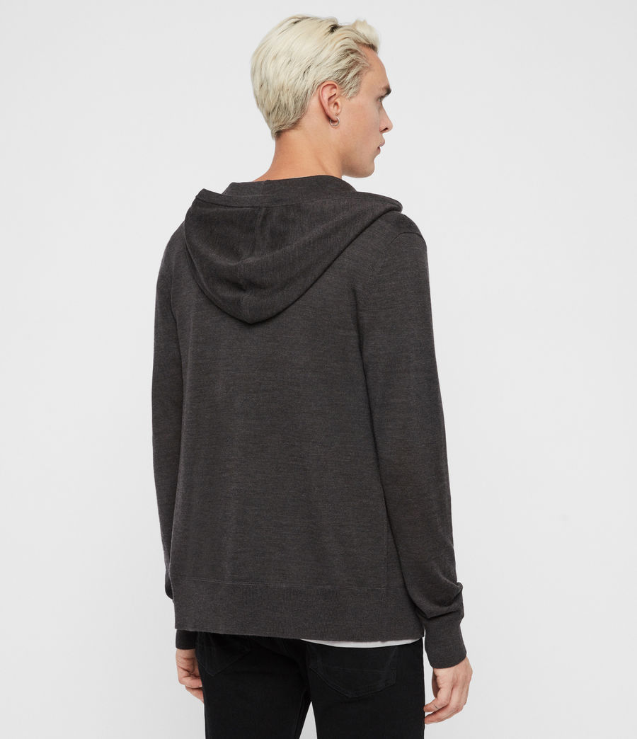 Mens Mode Merino Zip Hoodie (engine_grey_marl) - Image 5