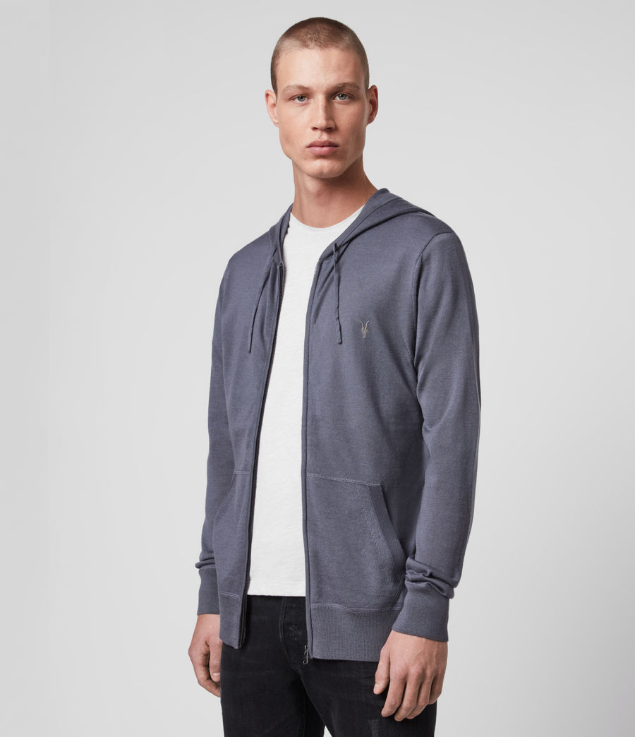 Men's Mode Merino Zip Hoodie (grey_marl) - Image 4