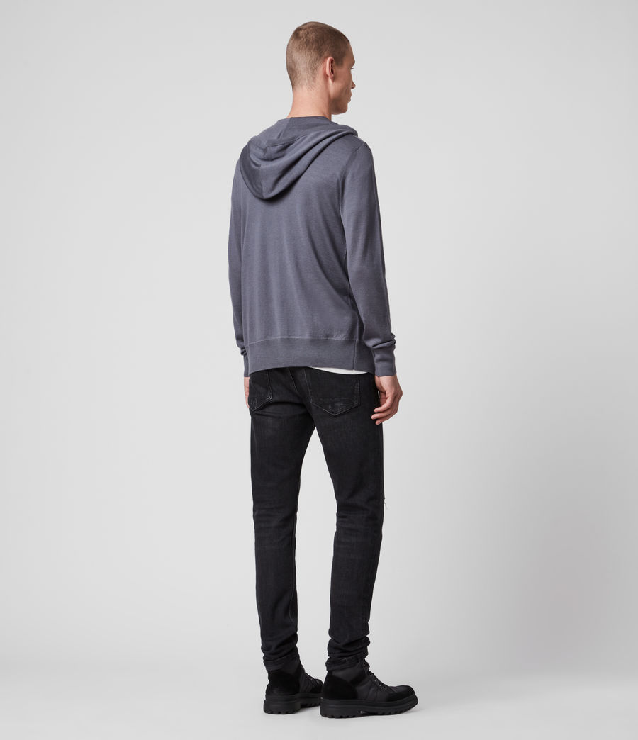 Men's Mode Merino Zip Hoodie (grey_marl) - Image 5