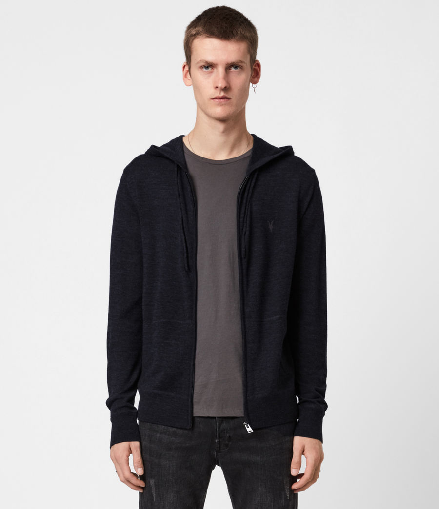 Mens Mode Merino Zip Hoodie (grey_marl) - Image 1