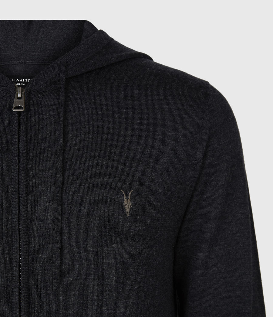 Mens Mode Merino Zip Hoodie (grey_marl) - Image 4