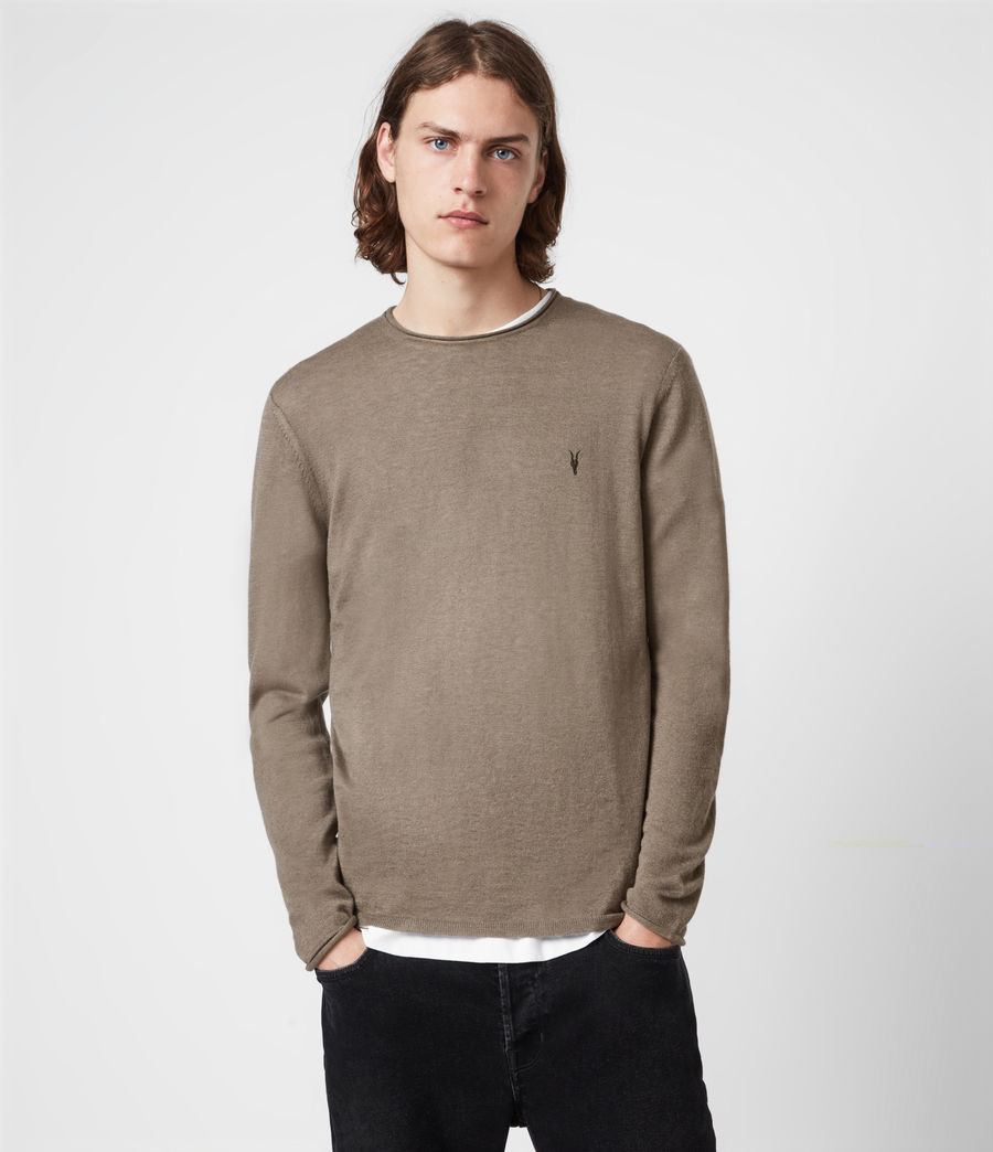 Mens Kannet Crew Sweater (forest_brown) - Image 1