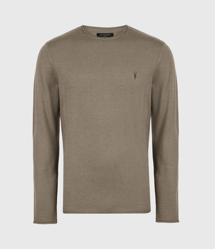 Mens Kannet Crew Sweater (forest_brown) - Image 2