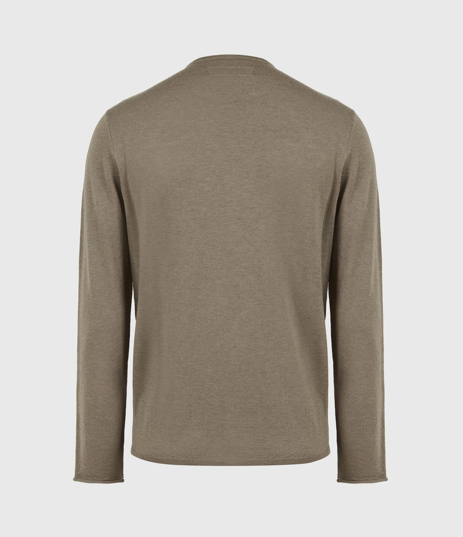 Mens Kannet Crew Sweater (forest_brown) - Image 3