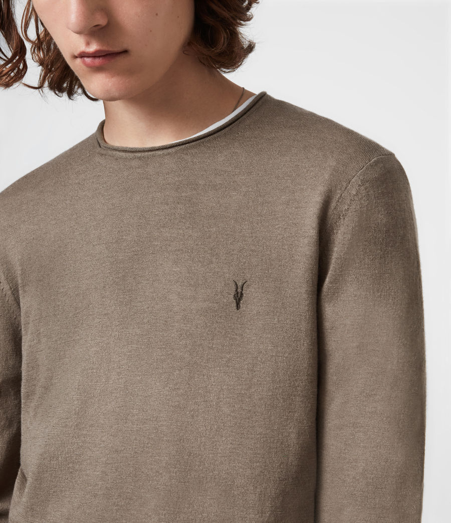 Mens Kannet Crew Sweater (forest_brown) - Image 4