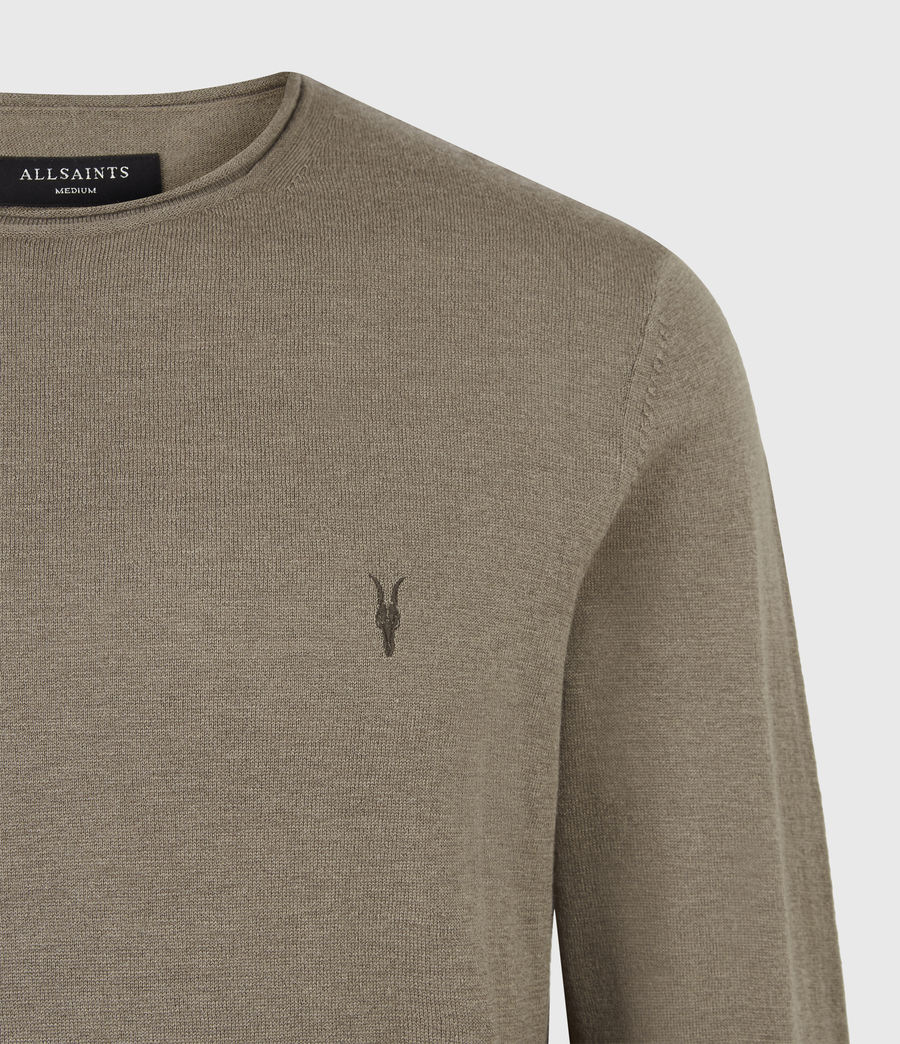 Mens Kannet Crew Sweater (forest_brown) - Image 5