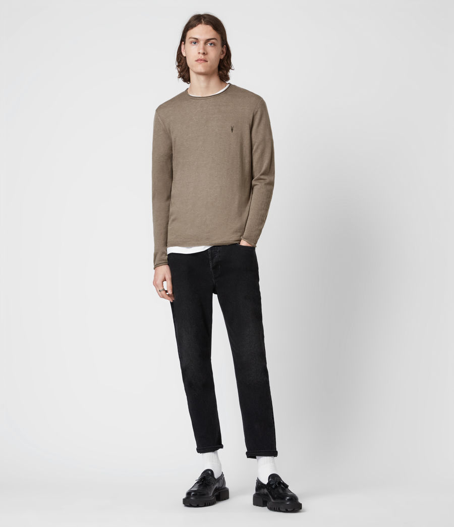 Mens Kannet Crew Sweater (forest_brown) - Image 6