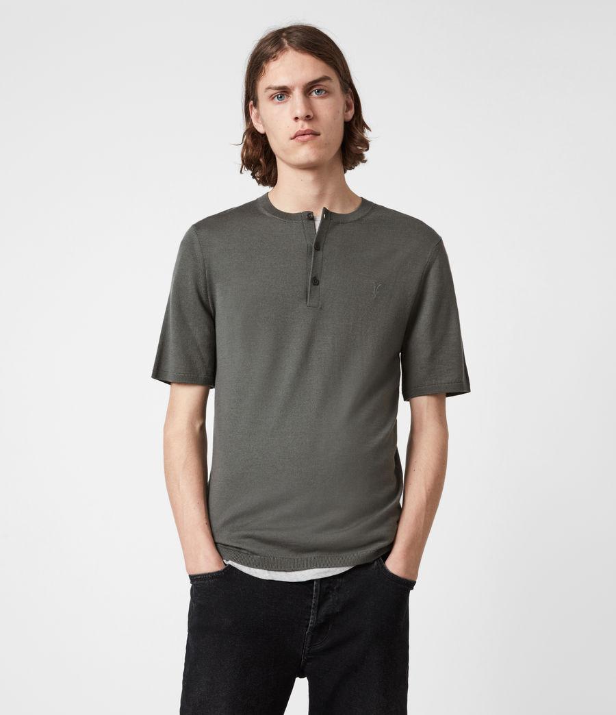 Men's Mode Merino Henley (sacremento_green) - Image 1