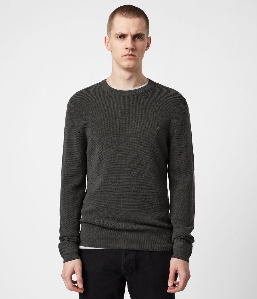 Mens Ivar Merino Crew Sweater (sacremento_green) - Image 1
