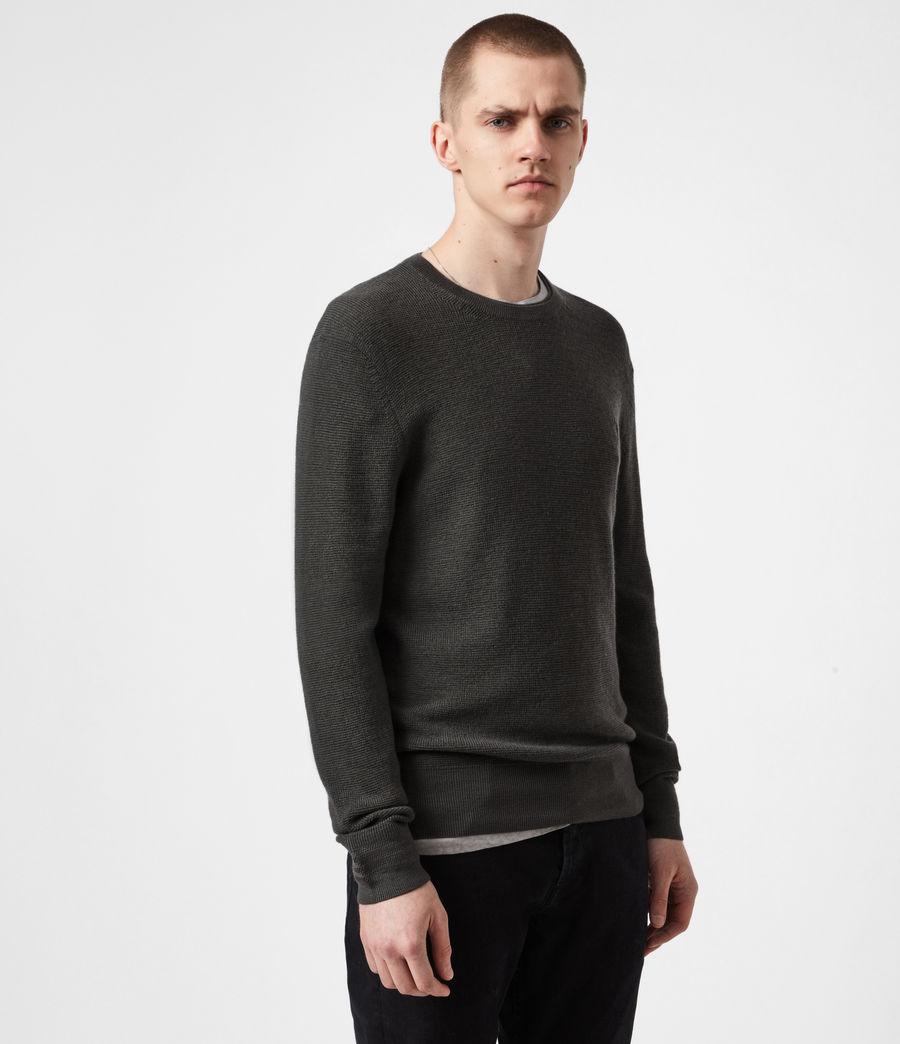 Mens Ivar Merino Crew Sweater (sacremento_green) - Image 7