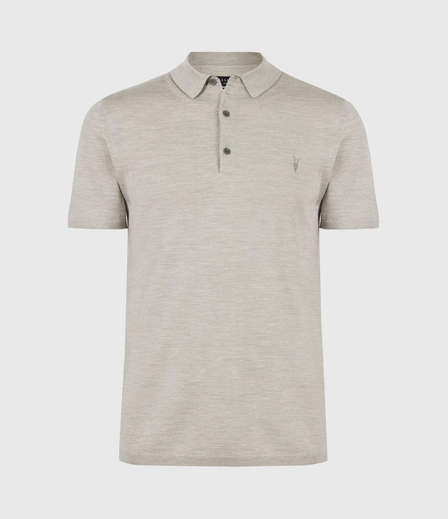 Herren Mode Merino Short Sleeve Polo Shirt (corazon_taupe_marl) - Image 2