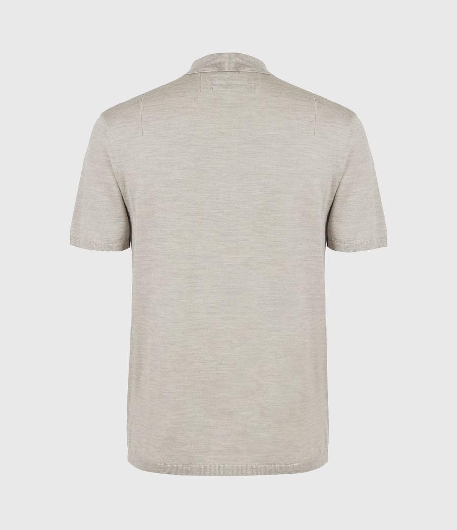 Herren Mode Merino Short Sleeve Polo Shirt (corazon_taupe_marl) - Image 3