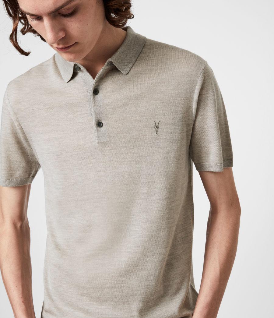 Herren Mode Merino Short Sleeve Polo Shirt (corazon_taupe_marl) - Image 4