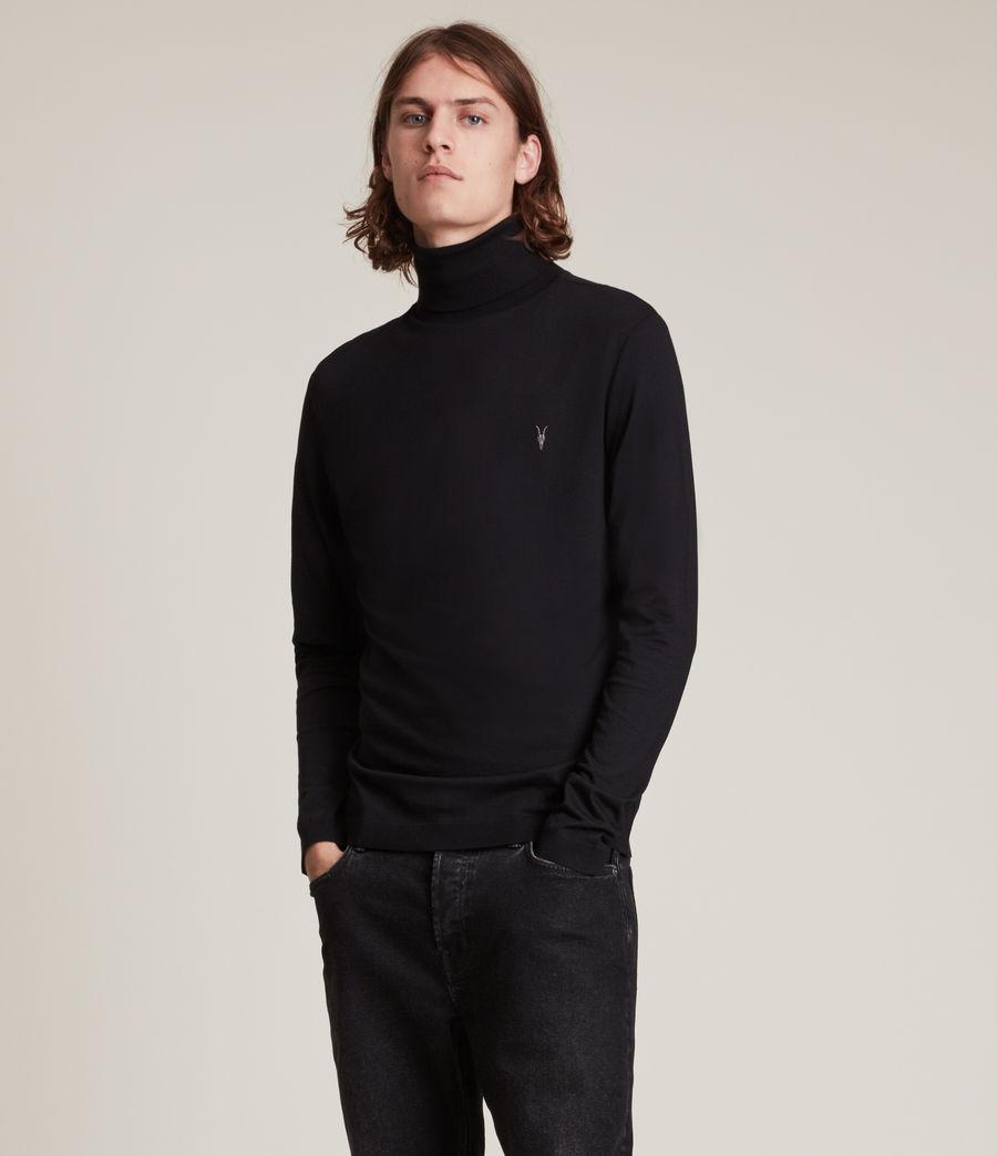 Men's Mode Merino Roll Neck Jumper (black) - Image 1