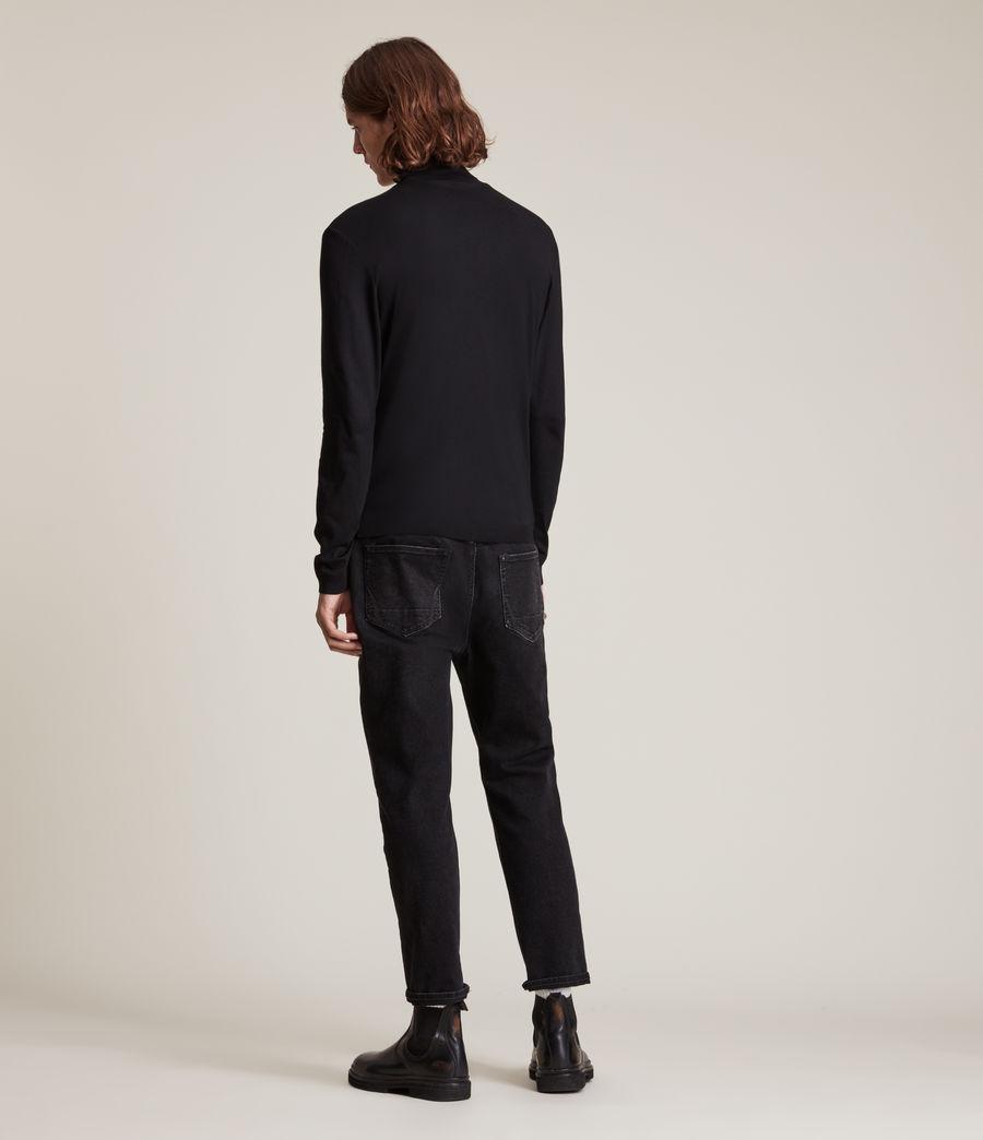 Men's Mode Merino Roll Neck Jumper (black) - Image 4