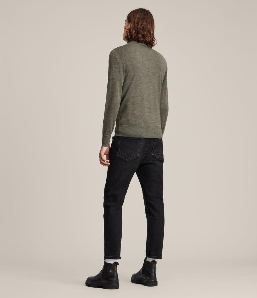 Men's Mode Merino Roll Neck Jumper (nettle_green_marl) - Image 4