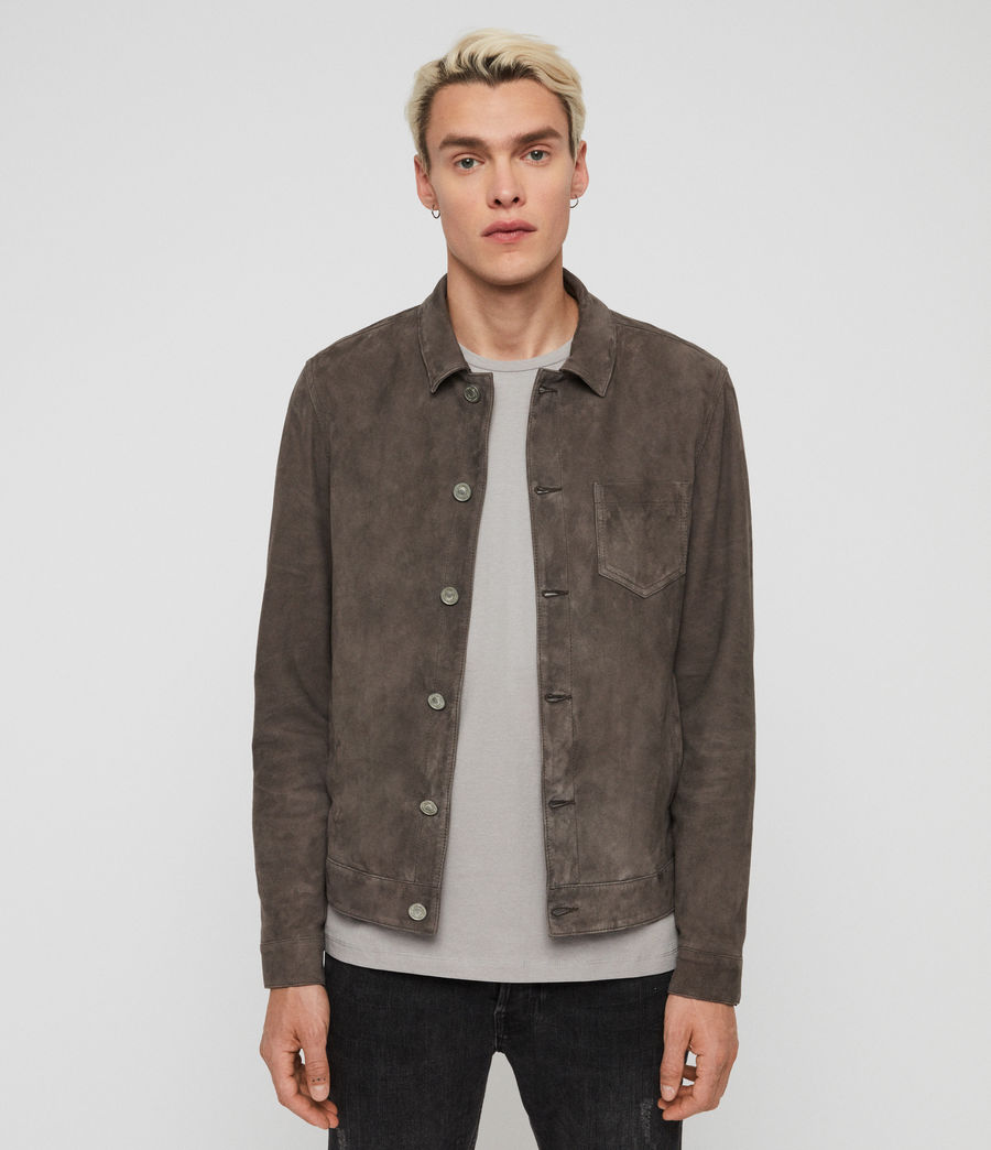 Men's Forge Suede Jacket (graphite_grey) - Image 1