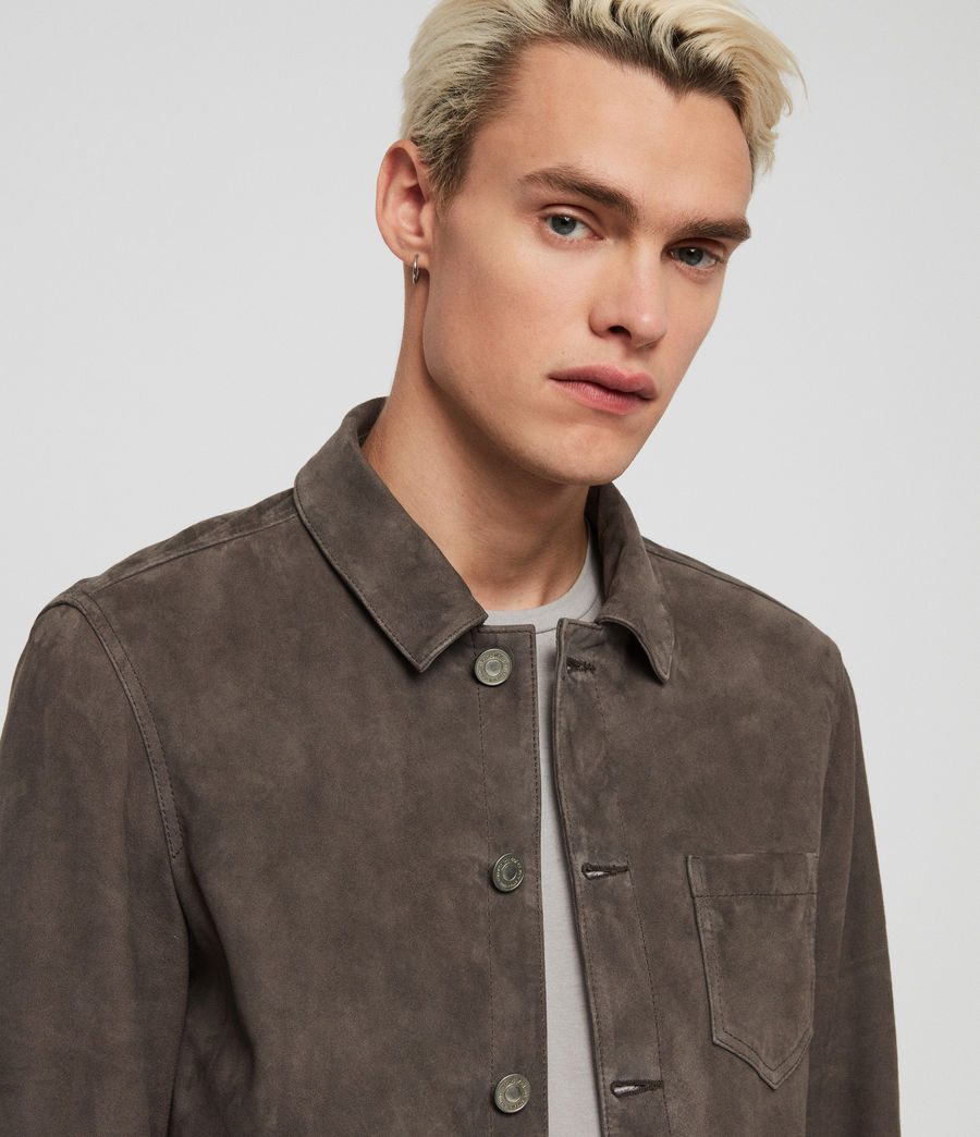 Men's Forge Suede Jacket (graphite_grey) - Image 2