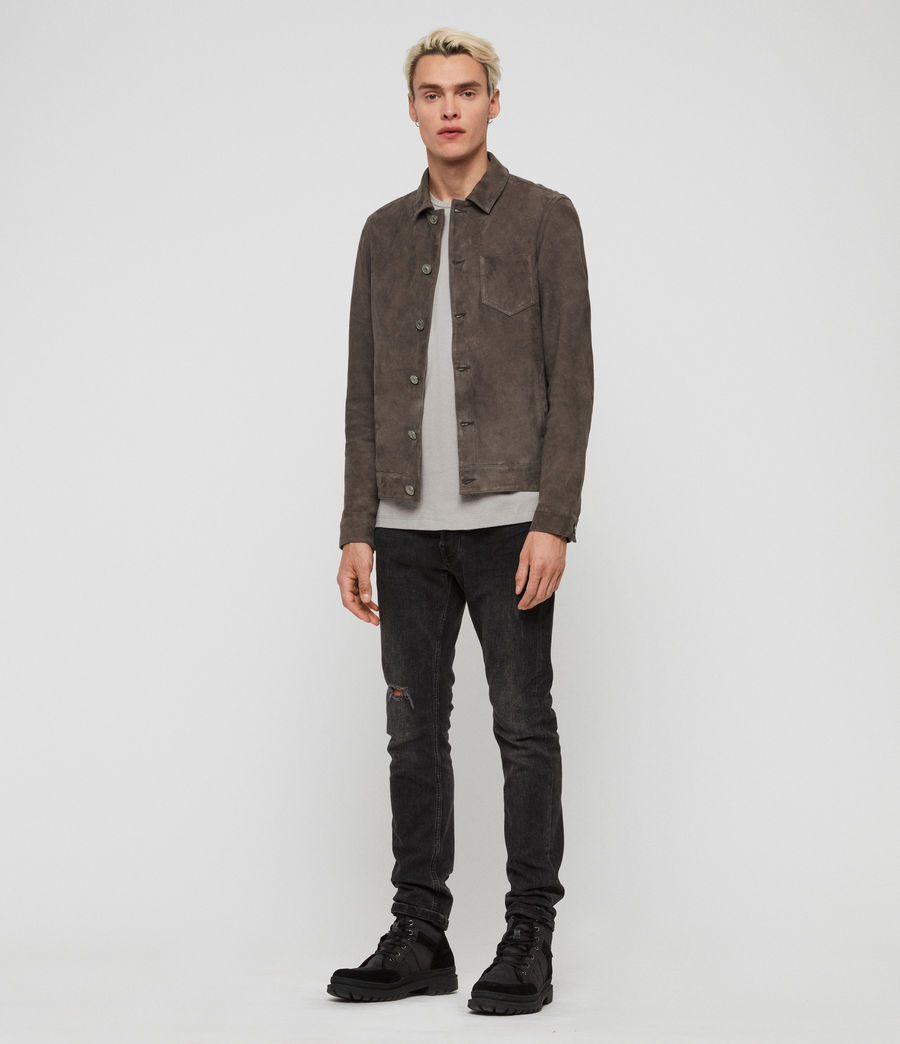 Mens Forge Suede Jacket (graphite_grey) - Image 3