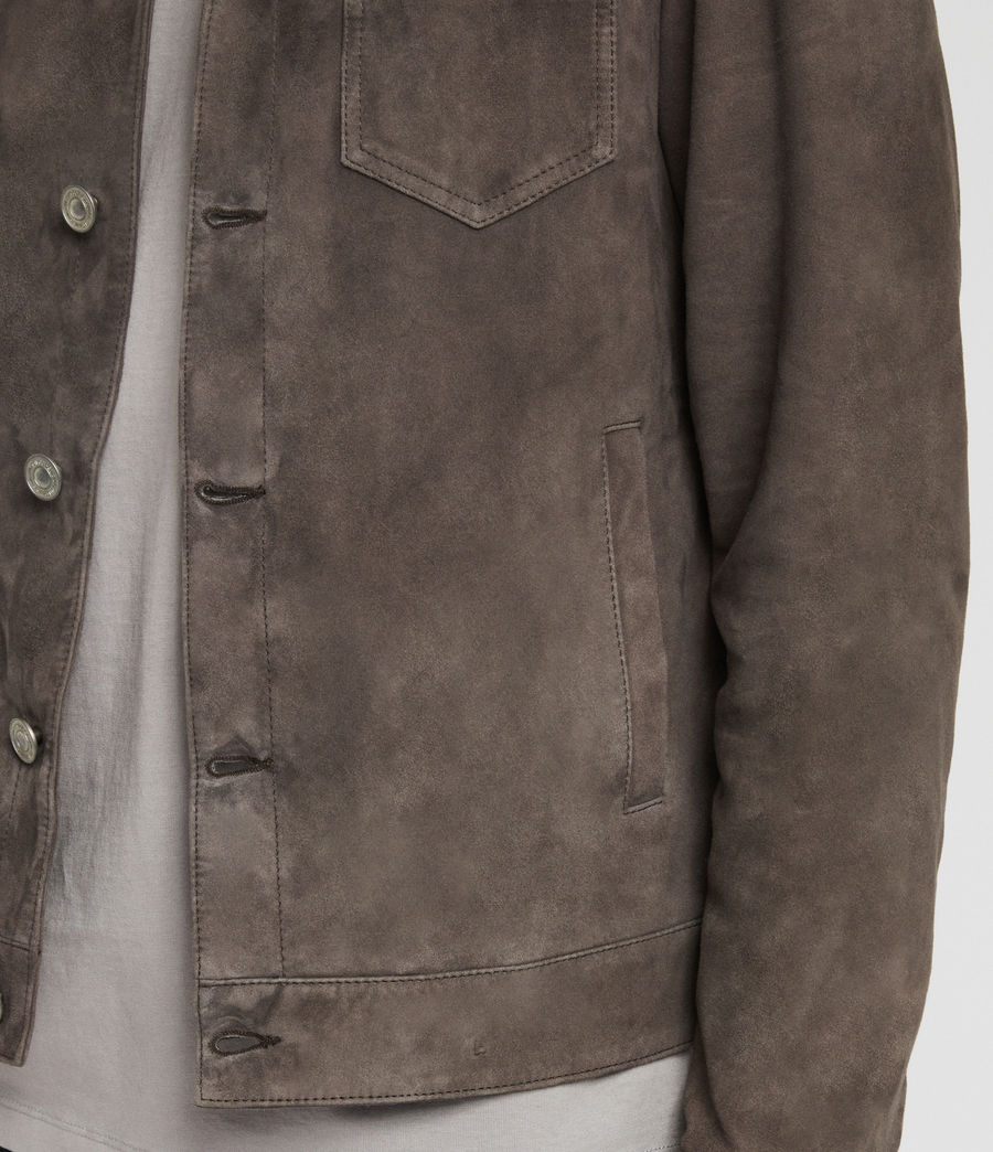 Men's Forge Suede Jacket (graphite_grey) - Image 4