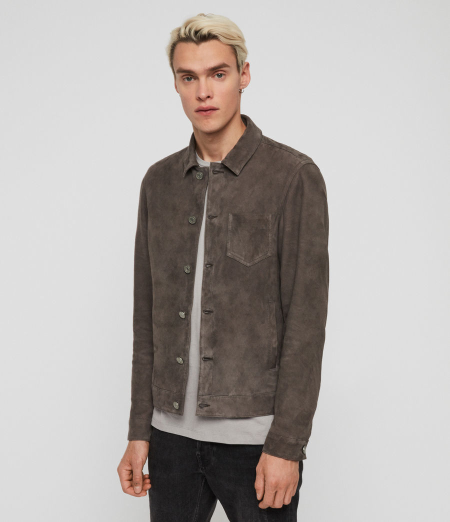 Men's Forge Suede Jacket (graphite_grey) - Image 5