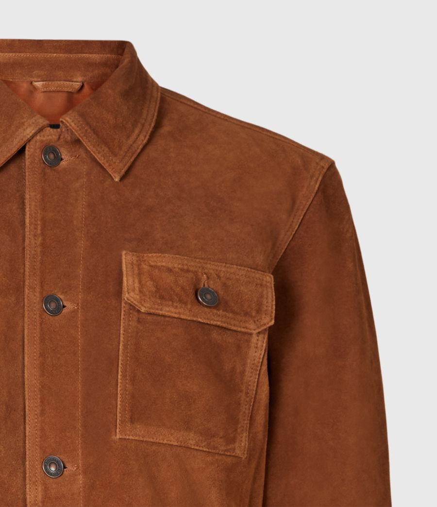 Mens Adler Suede Jacket (camel) - Image 5