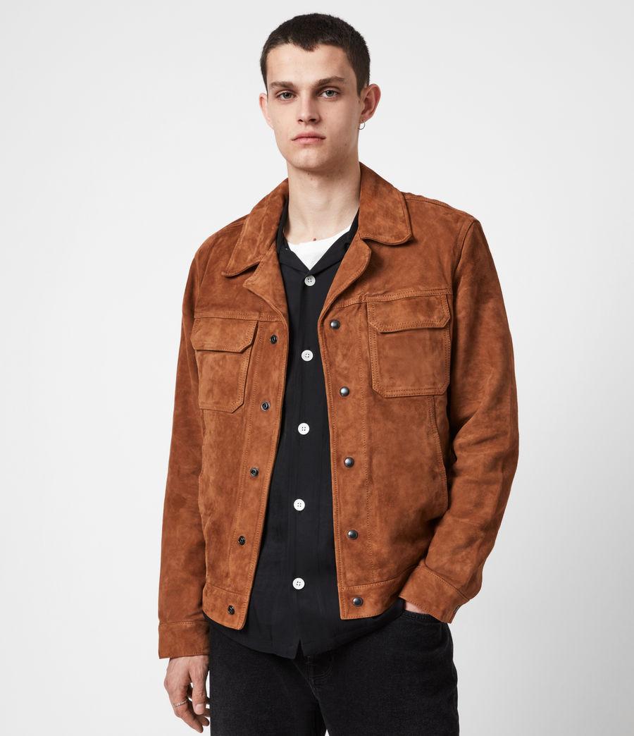 Men's Adaire Suede Jacket (tan) - Image 1