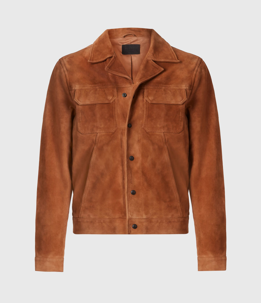 Men's Adaire Suede Jacket (tan) - Image 2